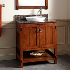 """30"""" Harington Oak Vanity for Semi-Recessed Sink"""