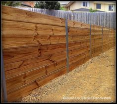 The Retaining Walls Specialist Melbourne- Treated Pine Timber Retaining Wall with Galvanised I Beam Posts. - The Retaining Wall Specialist Melbourne, Landscaping, Warragul, VIC, 3820 - TrueLocal