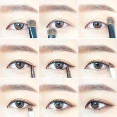 Eyes makeup tutorials Korean style #EyelinerPencil