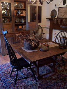 Don & Pat Gaddy  Old Bittersweet Farm  Dining Rooms  Pinterest Impressive Primitive Dining Room Sets Decorating Design