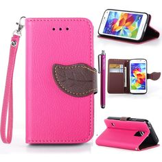S5 Mini Case KINGCOOL(TM) Cute Tree Leaf Design Magnetic Flip Stand Leather Wallet Case Cover with Free Stylus for Samsung Galaxy S5 Mini(Rose) Specially designed for Samsung Galaxy S5 mini Made of high quality PU leather material+magnetic flip design Includes slots to store your credit cards / business cards Provides protection and prevents scratches and dirt from accumulating Full access to all functions