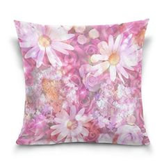 Cotton Velvet Decorative Square Throw Pillow Cover Pillowcase Cushion Cover 20x20 InchesViolet Color Flowers on Both Sides * This is an Amazon Affiliate link. Continue to the product at the image link.