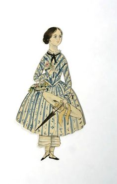 Paper doll Hand made, English, 1860