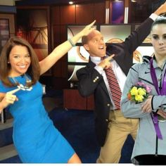 "McKayla Maroney is not impressed with Matt & Mallory's ""Bolt"" pose!"