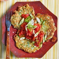 These meatless Zucchini Fritter Cakes pack some serious flavor! | Rachael Ray's 30-Minute Meals