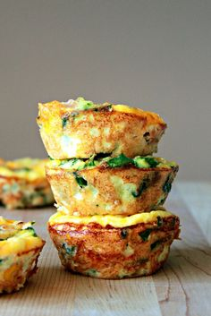 Mini Frittatas for a  quick healthy breakfast on the go!