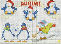 Cross-stitch Penguins.. no color chart, just use pattern chart colors as your guide.. or choose your own colors.    Gallery.ru / Фото #7 - 22 - KIM-2