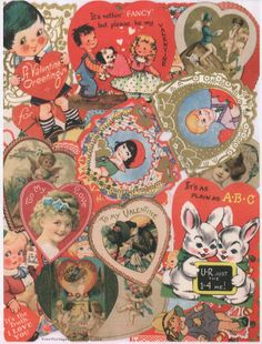 Vintage Valentine Cards, My Funny Valentine, Vintage Cards, Vintage Postcards, Vintage Images, Christmas Aesthetic Wallpaper, Photo Wall Collage, Vintage Cartoon, New Wall