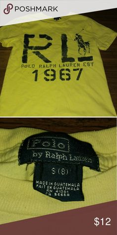 Polo Ralph Lauren boys size 8 T-shirt gently used. Polo by Ralph Lauren Shirts & Tops Tees - Short Sleeve