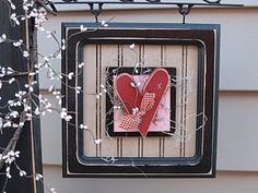Welcome Post/Heart Welcome Post, Country Primitive, Wood Crafts, Valentines Day, Clock, Crafty, Creative, Frame, Holiday