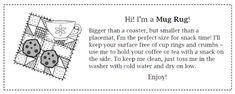 Mug Rug Inspiration and Free Gift Tag Crafty Gemini, Mug Rug Tutorial, Mug Rug Patterns, Straight Line Quilting, Free Printable Gift Tags, Rug Inspiration, Crazy Mom, Good Tutorials, Christmas Mugs