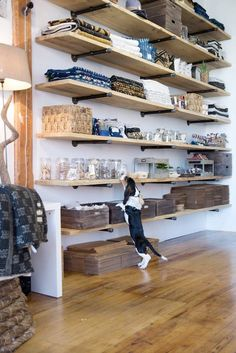 clever storage in a working loft