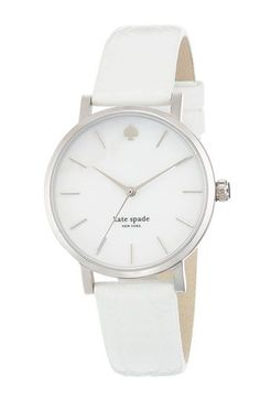 kate spade new york 'metro' embossed leather strap watch nordstrom link Iphone 5c, Jewelry Accessories, Fashion Accessories, Kate Spade Watch, Trendy Watches, Fashion Watches, Jewels, Bracelets, Smartwatch