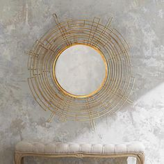 Create a stylish focal point for any space with this contemporary beveled wall mirror.