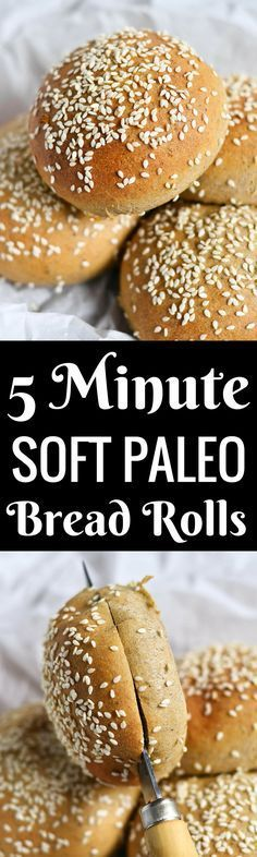 The BEST paleo bread 5 Minute Fluffy Flourless Hamburger buns!! You NEED these in your life! They are incredibly easy to make and are light and fluffy (no crumbs). Also, these rolls can be made in the toaster oven! Best paleo bread recipes. Easy paleo bread. Easy gluten free bread recipe. Best gluten free hamburger buns. Gluten free bread rolls recipe. Easy paleo bread rolls.