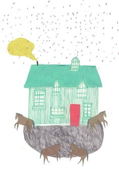 Horse and house Limited edition by Amyislaillustration on Etsy