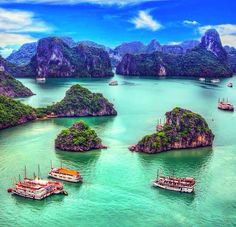 Halong Bay, Vietnam.  An amazing experience to book a junk boat cruise and admire the incredible scenery