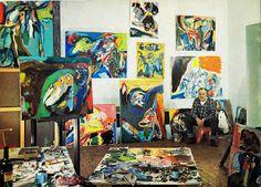 Asger Jorn's studio, 1972