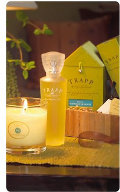 Trapp Candles are the best, most richly scented cnadles out there- and the scent lasts all the way to the bottom of the jar.  Plus they burn clean on the jar.