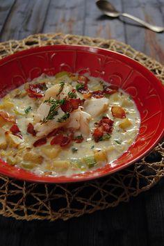 Roasted Corn and Cod Chowder #chowder #soup
