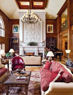 Traditional  Great Rooms, love the paneling