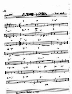 Jazz Standard Realbook chart AUTUMN LEAVES