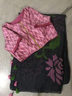 Simple Blouse Designs, Stylish Blouse Design, Vestidos Animal Print, Cotton Saree Blouse Designs, Designer Blouse Patterns, Party Blouses, Net Blouses, Silk Sarees, Indian Sarees