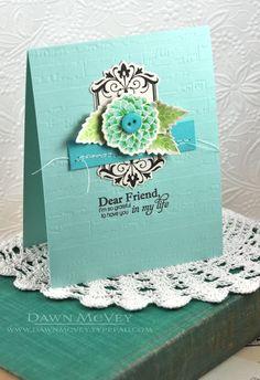 Gallon:Quart:Pint Color Challenge - Dear Friend Card by Dawn McVey for Papertrey Ink (August 2013)