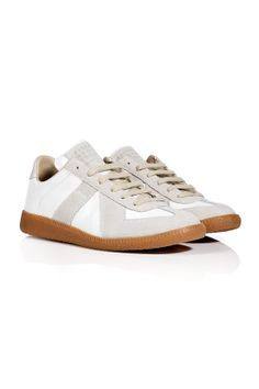 low priced 8845d dae6e Leather Suede Replica Sneakers in White from MAISON MARTIN MARGIELA    Luxury fashion online   STYLEBOP.com