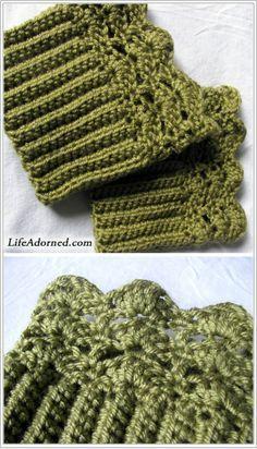 FREE boot cuffs crochet pattern: Belmont Boot Toppers