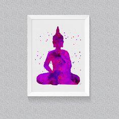 Watercolor Buddha, Buddha Art Print, Buddha Painting, Buddha Poster, Yoga Art, Meditation Art, Zen Wall Art, Buddhist Art, Spiritual Art