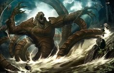 Fantasy Art: Release the Kraken - 2D Digital, Digital paintings, FantasyCoolvibe – Digital Art
