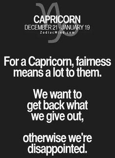 Capricorn fairness