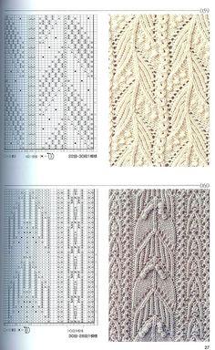Японская книга узоров (спицы) 059