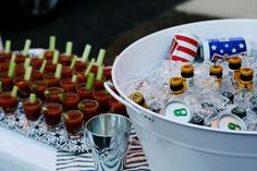 Bloody Mary Oyster Shooters and a Washtub of Beer