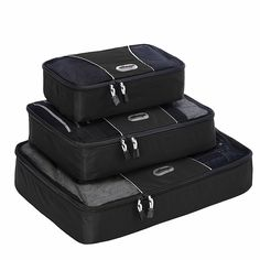 Amazon.com: eBags Packing Cubes - 3pc Set (Black): Clothing