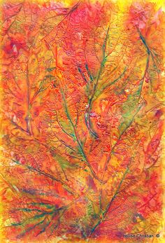 https://flic.kr/p/MLPzgz   ''ABSTRACT LEAVES'' PAINTING   Abstract leaves mixed media painting.