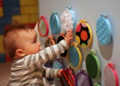 http://www.funathomewithkids.com/2013/02/sensory-boards-infant-x-already-has-lot.html DIY Sensory Boards