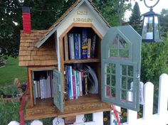 """""""Little Free Library"""" repinned by Libby VanBuskirk on """"I Love Books."""" This is such a great idea, especially where we live, on the side of a mountain. The only time I wish for flatland."""