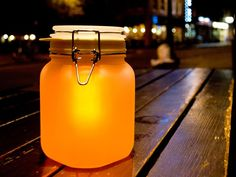 Sun Jar. Charges on sunlight during the day. Glows during the night. €27