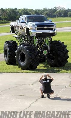 Monsterlicious Lowered Trucks, Lifted Ford Trucks, Diesel Trucks, Custom Trucks, Cool Trucks, Chevy Trucks, Pickup Trucks, Chevy 4x4, Big Monster Trucks