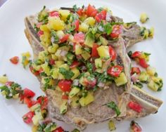 Broiled Pork Chops with Spicy Pineapple Salsa