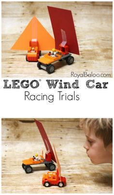 LEGO Brick Wind Car Races - Royal Baloo LEGO Wind Car Racing Trials plus the Learning with LEGO EBook Bauen als Feinmotorik-Übung und Pusten als Mundmotorik-Übung Weather Activities For Kids, Lego Activities, Lego Games, Stem Projects, Lego Projects, Wind Car, Pokemon Lego, Lego Candy, Lego Books