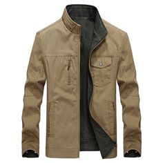 c5cd2c9af652b Men Cotton Jacket 2018 Autumn Streetwear Two Side Wear Men Reversable  Jackets Chaqueta Hombre Military Jacket