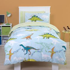 Dino Boys Blue Single Bedding Set Kids Bedroom Designs Room Design