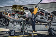 p38lightning:  A great view of the P-38. This a real photo, but with some artistic filters applied to it.beautifulwarbirds@gmail.comTwitter: @thomasguettlerBeautiful WarbirdsFull AfterburnerThe Test PilotsP-38 LightningNasa HistoryScience Fiction WorldFantasy Literature & Art