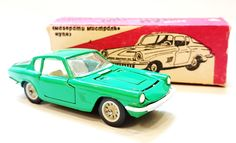Maseratti Mistral Coupe 1/43 Diecast Made in USSR 1980s. Russian Re-make of Mebetoys by USSRvintageToys on Etsy