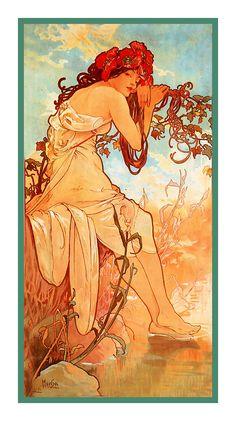 Alphone Mucha's Summer Poster Art