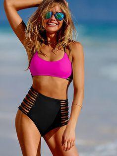 bikinis-victoria-secret-primavera-verano-2017-modelo-bicolor-rosa-negro.jpg (504×672)
