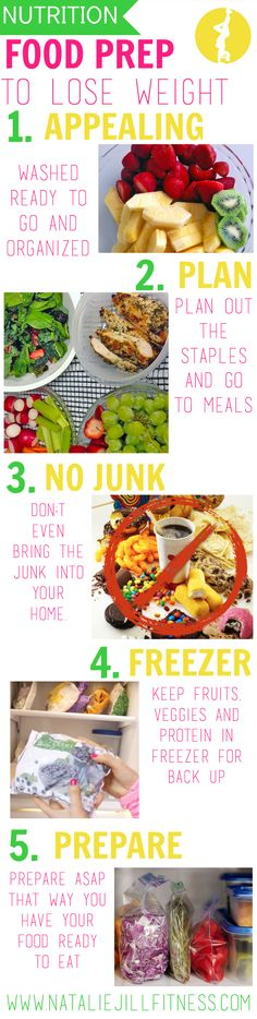 5 easy tips to help with your food prep for weight loss! Click to learn more!